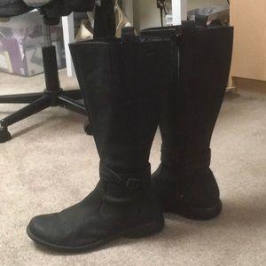 Tall black Merrill boots
